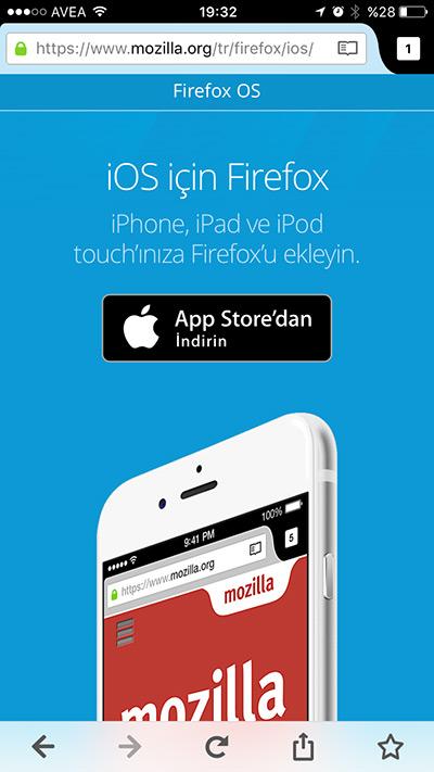 iOS için Firefox